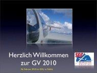 26. Februar 2010 im SGU in Näfels - Segelfluggruppe Glarnerland