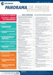 Panorama du 7 au 13 juin 2013 n°506 - Chambre régionale de ...