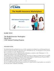 'The Health Insurance Marketplace' (PDF)
