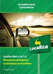 Localiza Rent a Car S.A Manual para participação de ... - EasyWork