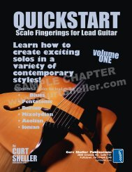 QuickStart - Scale Fingerings for Lead Guitar - Curt Sheller
