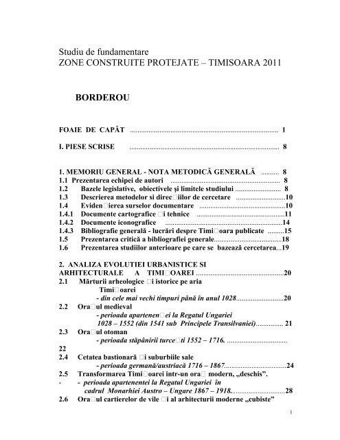 Zone construite protejate timisoara 2011 - Audieri publice