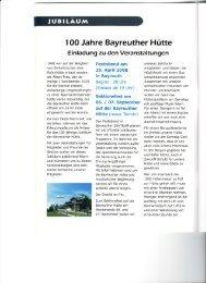 I OO Jahre Bayreuther Hutte - Alpenverein Bayreuth