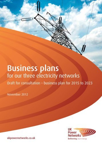 Business plans - UK Power Networks