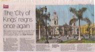 Telegraph, 19/03/2011 - Journey Latin America