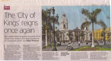 Telegraph, 19/03/2011 - Journey Latin America