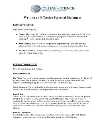tips for writing a pgce personal statement