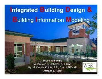 Integrated Building Design & Building Information Modeling - ASHRAE