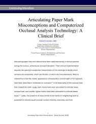 Articulating Paper Mark Misconceptions and Computerized Occlusal ...