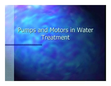 Pumps and Motors in Water Treatment
