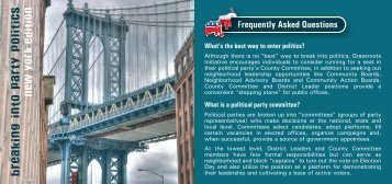 Frequently Asked Questions Freq - Grassroots Initiative
