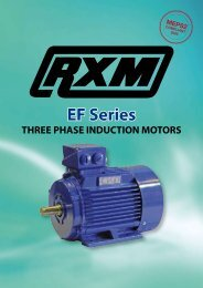 REMX EF Series Three Phase (Cast Iron) - Royce Cross Agencies