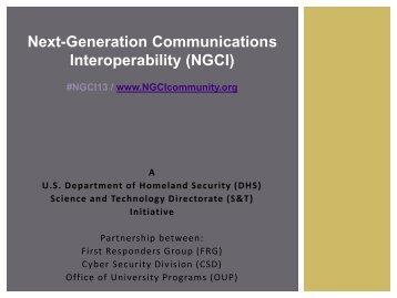 Next-Generation Communications Interoperability (NGCI)