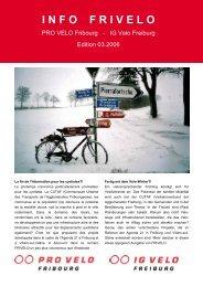 PDF (0,7MB – lowresolution) - PRO VELO Fribourg / Freiburg
