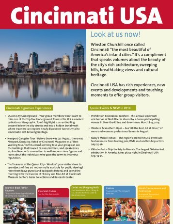 Cincinnati USA CVB Profile - Ohio Has It!