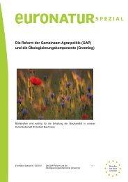 Die Reform der Gemeinsamen Agrarpolitik - EuroNatur