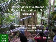 Reforestation FMU 17A - Sabah Forestry Department