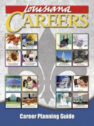 LA Career Planning Guide - Louisiana Community and Technical ...