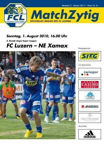 MatchZytig Ausgabe N°2 - FC Luzern