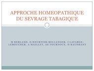 approche homeopathique du sevrage tabagique