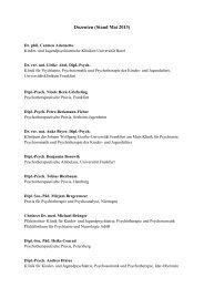 Dozenten (Stand Mai 2013) - Ausbildungsprogramm Kinder