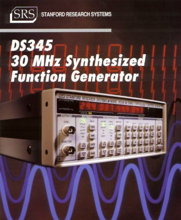 DS345 30 MHz Synthesized Function Generator $1595
