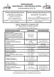 Unité pastorale Saint-Etienne – Saint-Nicolas de Flue - Cath-vd.ch