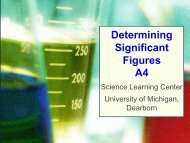 Determining Significant Figures A4 - University of Michigan