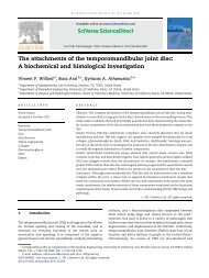 The attachments of the temporomandibular joint disc: A biochemical ...