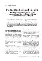 Det sociale arbejdes arbejdsmiljø - Nyt om Arbejdsliv