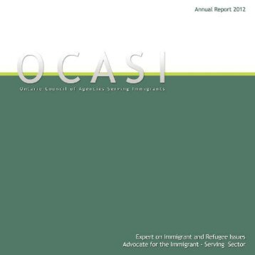 2012 Annual Report (English) - OCASI