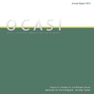 2012 Annual Report (English) - OCASI