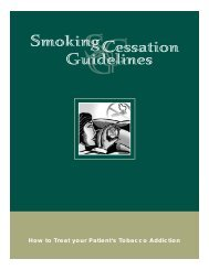 How To Treat Your Patient's Tobacco Addiction - Physicians for a ...