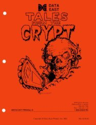 Data East Tales from the Crypt Manual