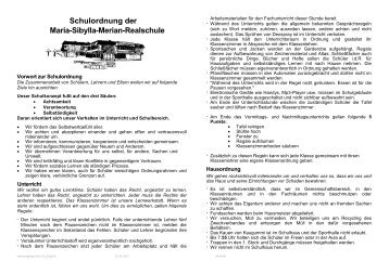 Schulordnung - Maria-Sibylla-Merian-Realschule