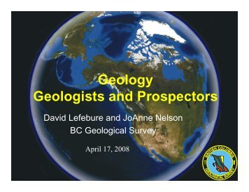 Geology Geologists and Prospectors - Minerals North