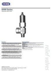 relief valves 6500 Series