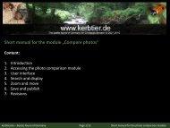 Manual for the photo comparison module - kerbtier.de