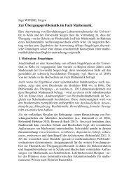 Zur Übergangsproblematik im Fach Mathematik (BzMU 2013)