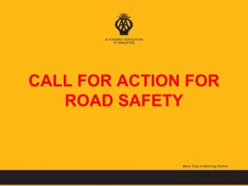 CALL FOR ACTION FOR ROAD SAFETY