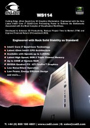 Engineered with Rock Solid Stability as Standard! T: +44 (0 ... - Cad2