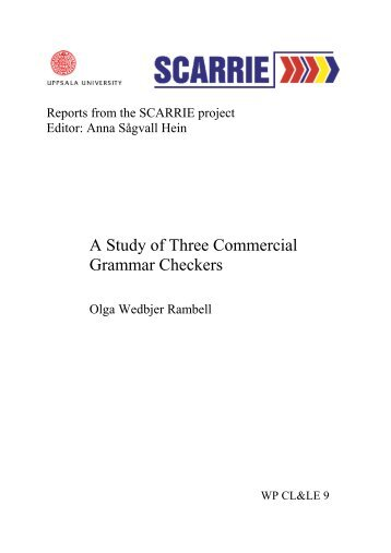 A Study of Three Commercial Grammar Checkers