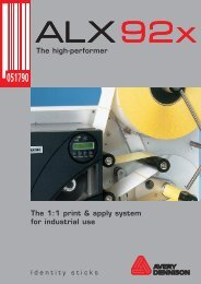 The 1:1 print & apply system for industrial use The ... - Avery Dennison