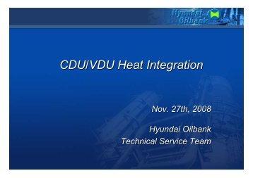 CDU/VDU Heat Integration