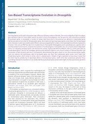 Sex-Biased Transcriptome Evolution in Drosophila - Genome ...