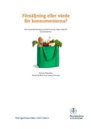 Försäljning eller värde för konsumenterna? - Stockholms universitet