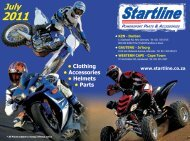 • Clothing • Accessories • Helmets • Parts - Startline