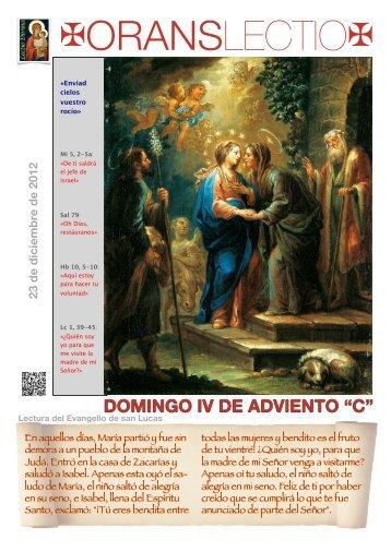 OL Domingo IV Adviento, C, PDF - Orans lectio