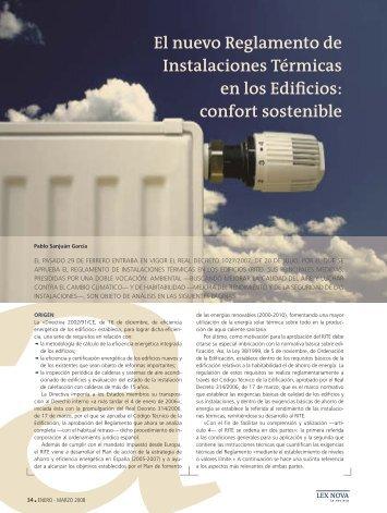 El nuevo Reglamento de Instalaciones Térmicas en los Edificios ...