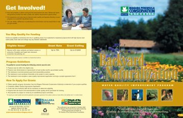 Naturalization Brochure - Niagara Peninsula Conservation Authority